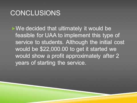 Feasibility Study on Laptop Rental Program