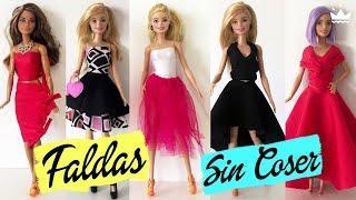 Cómo Hacer Vestidos Para Barbie Muy Facil Ropa Para Muñecas