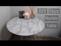 DIY Faux Marble Table - UNDER $5  | Kiera Graham
