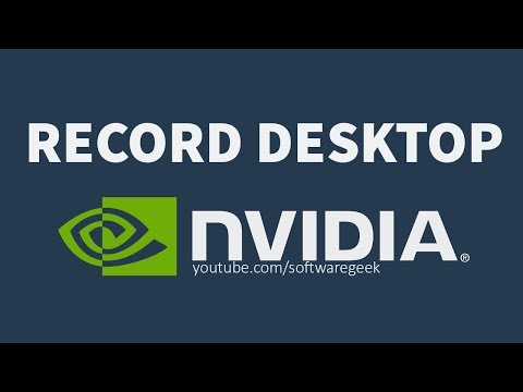 How To Record Desktop With ShadowPlay | Record Screen in HD FREE!