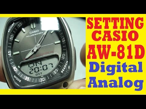 Setting AW-81D-1AVEF How to set time