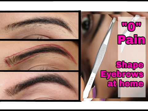 How to shape EYEBROWS at home | NO PAIN | EASY | SIMPLE | Ishita Chanda