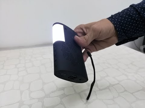 Bluetooth Speaker with LED Flash Light Unboxing & Testing