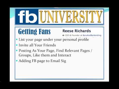 How to Get Fans on Facebook:  Getting Fans to Your Facebook Page