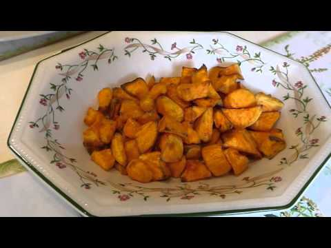 Sweet potato chips cooked in the Tefal Actifry.