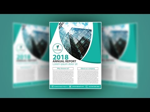 Illustrator tutorial - Annual report cover or flyer design