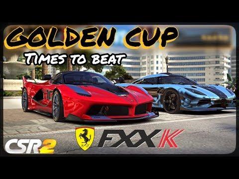 Download CSR Racing 2 - Ferrari FXX K Golden Cup - Times to beat