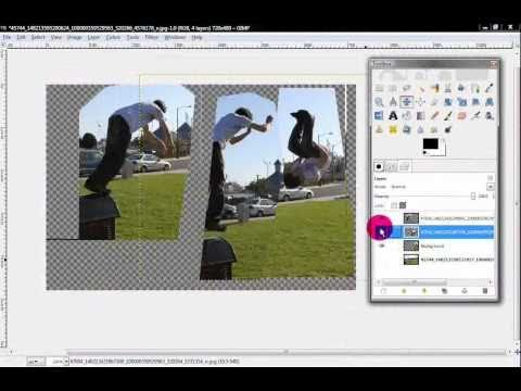 How to put multiple pictures together with GIMP