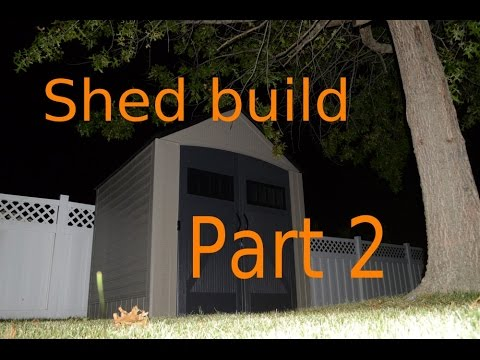 Build a shed part 2.  Rubbermaid Shed 7*7 Feet.