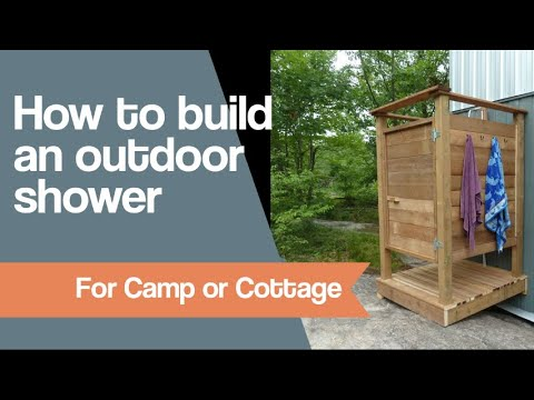 How to make an Outdoor Shower