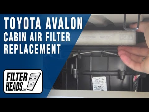 How to Replace Cabin Air Filter Toyota Avalon
