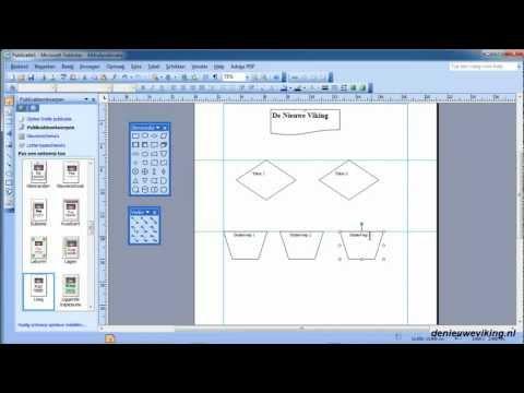 microsoft publisher 2003 - 22 een flowchart maken