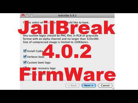 How to JailBreak 4.0.2 on iPhone 3G & iPod Touch 2G (Non Mc) - RedSn0w