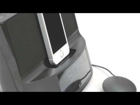 iLuv Timeshaker- Lightning Alarm Clock Dock with Bed Shaker