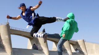 Karate vs 3 Martial Arts Goons | Action Movie Scene
