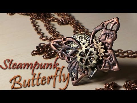 Steampunk Butterfly Charm/Ring - Polymer Clay Tutorial