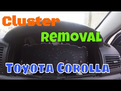 How to Remove Instrument cluster (Toyota Corolla)