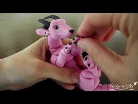 Handmade Ball Jointed Dragon Doll: Pinipette!
