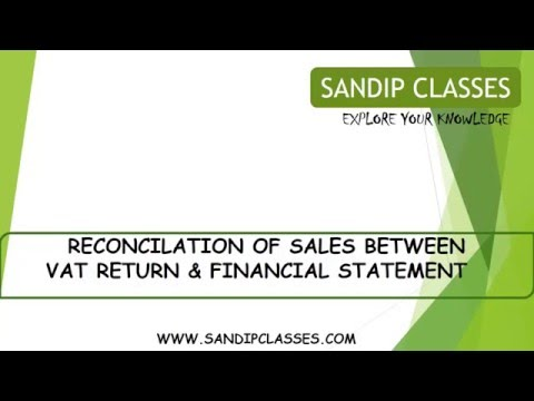 RECONCILE VAT SALE WITH P& L SALES USING PIVOT TABLE