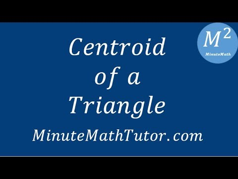 Centroid of a Triangle - Geometry