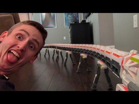 WORLD'S LONGEST NERF BLASTER 2.0! 40+ BARRELS!
