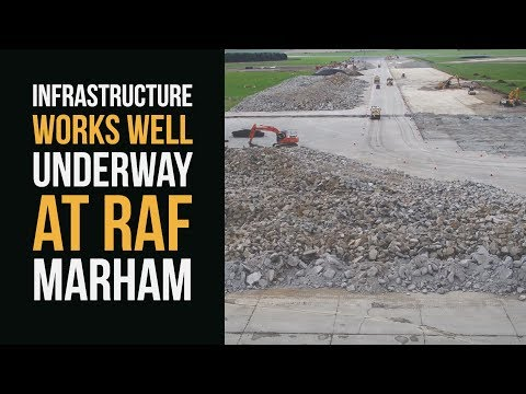 Infrastructure works well underway at RAF Marham