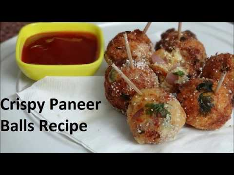 Crispy Paneer Balls Recipe - Easy Indian Party Snack Recipe - Kids Friendly Recipe