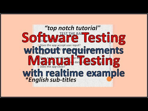 How to Test Software without Requirements