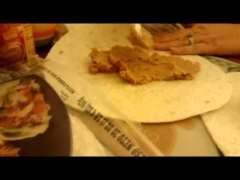 How to make bean and cheese burritos