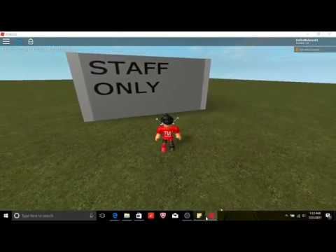 How to make a staff door in roblox [2018!]