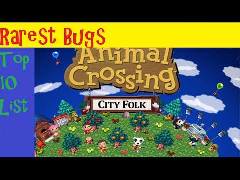 The Top 10 Rarest BUGS in Animal Crossing City Folk!