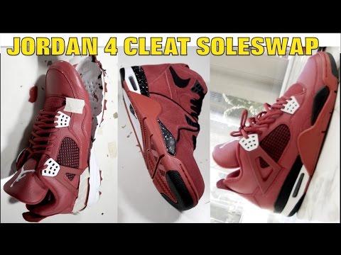 OG JORDAN IV CLEAT SOLESWAP!! (MUST WATCH)