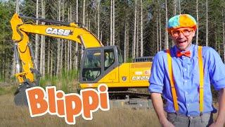 Blippi Explores An Excavator | Construction Vehicles For Children | Blippi Excavator