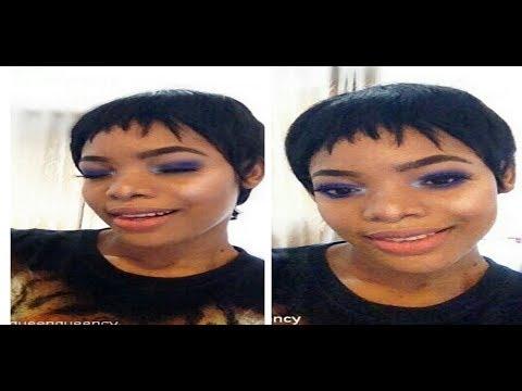 Blue Smokey Eye and Nude Lips Makeup tutorial | GoldQueen Queency