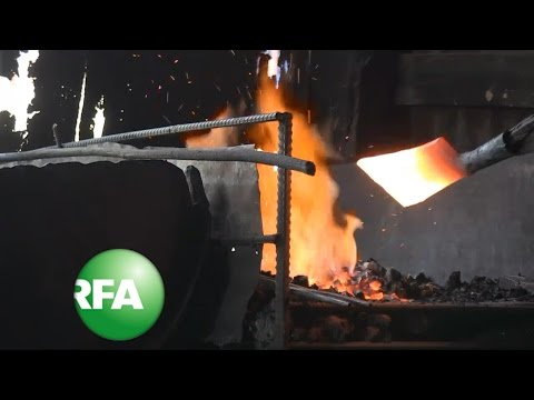 Cambodia's Blacksmith Pound Out a Living