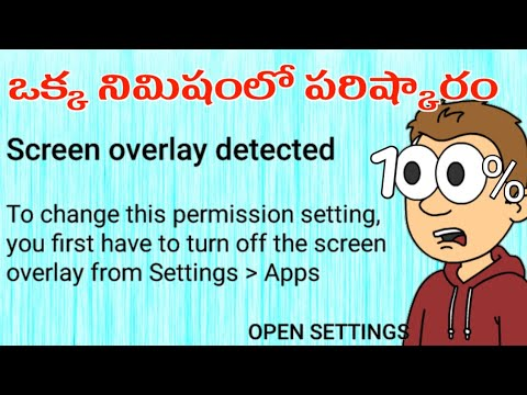 100% Fix How to Turn Off screen overlay detected Any Android Marshmallow device