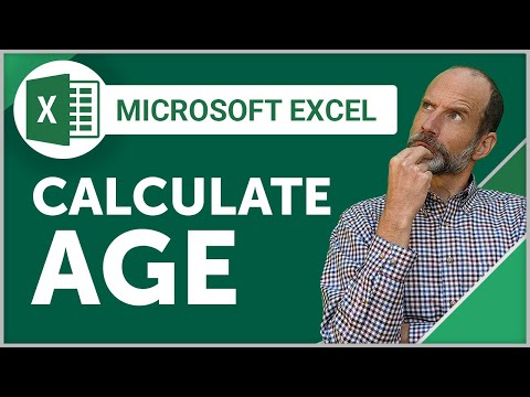 Excel - Calculate Age in Days, Months, or Years