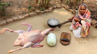 Chal Kumra & Duck Curry Recipe prepared by our Granny | Cooking Duck Meat and Ash Gourd