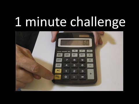 1 minute timer – calculator challenge!