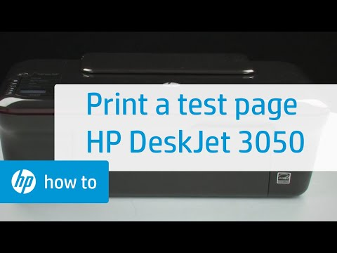 Printing a Test Page - HP Deskjet 3050 All-in-One Printer