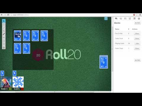 Roll20 Tutorials - Card Decks