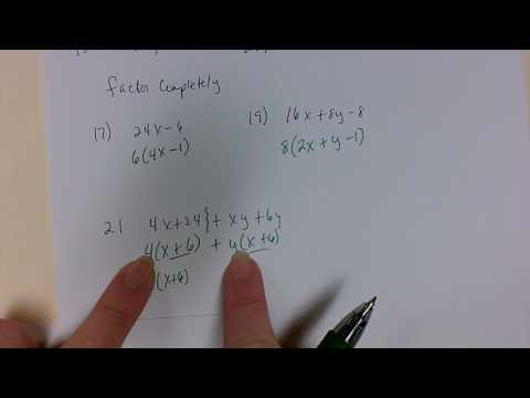 GCF, factor, factor by grouping, difference of squares, sum and difference of cubes