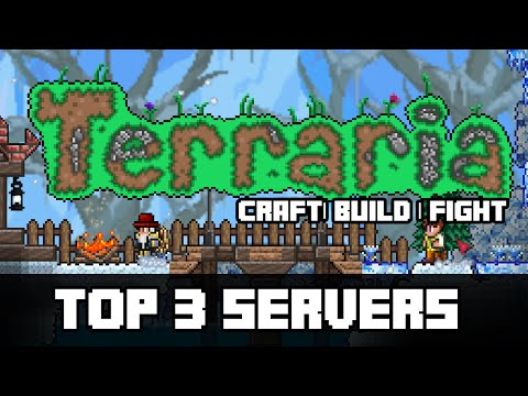 Terraria - Top 3 Servers (BUILD, FREE ITEMS, SURVIVAL, PVP, BOSSFIGHTS) JOIN 24/7