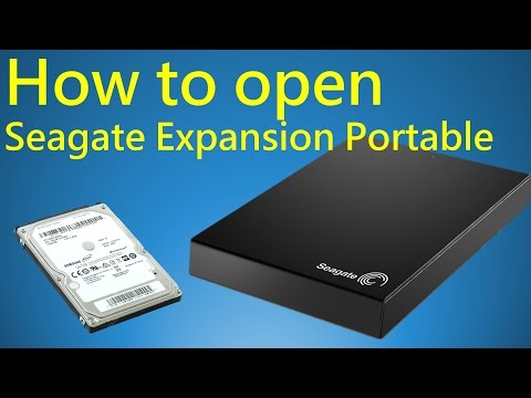 How to open Seagate Expansion Portable Hard Drive