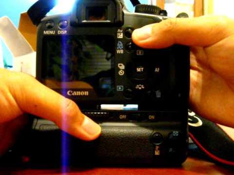 Canon BG-E5 Battery Grip Installation