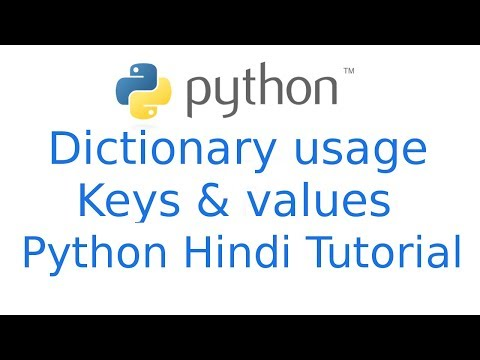 Dictionary Python: What is Dictionary in python   Keys Values python tutorial