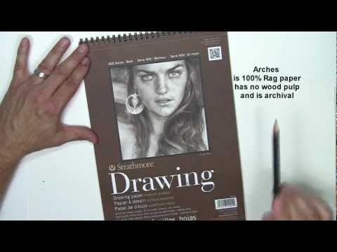 Drawing Paper Recommended for Realistic Pencil Drawing