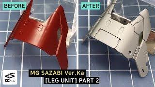 Gunpla detail process / SAZABI Ver Ka LEG Part 04 - Panel line