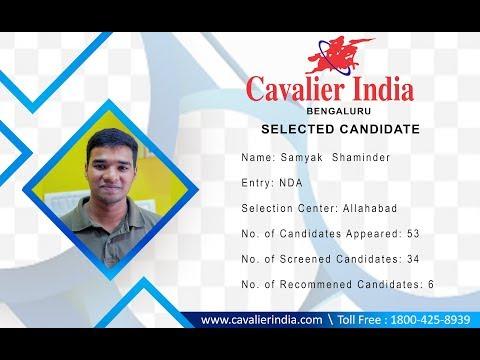 SSB Selected Candidate Samyak Shaminder || NDA  2018 || Cavalier India