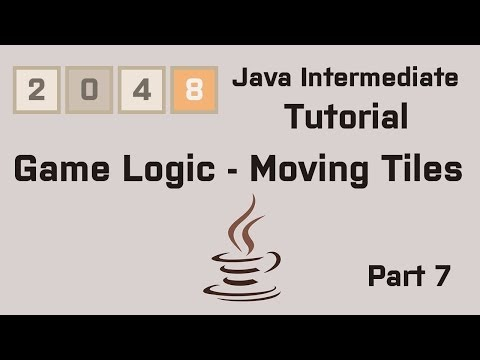 Java 2048 Intermediate Tutorial Part 7 Game Logic - Moving Tiles